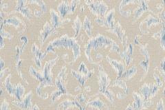449938 cikkszámú tapéta.Barokk-klasszikus,textil hatású,fehér,kék,szürke,lemosható,vlies tapéta