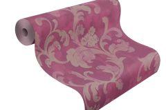 455373 cikkszámú tapéta.Barokk-klasszikus,textil hatású,bézs-drapp,pink-rózsaszín,lemosható,vlies tapéta