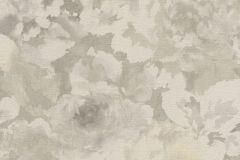 455601 cikkszámú tapéta.Virágmintás,fehér,szürke,lemosható,vlies tapéta
