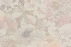 455656 cikkszámú tapéta.Textil hatású,virágmintás,fehér,narancs-terrakotta,pink-rózsaszín,szürke,lemosható,vlies tapéta