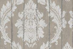 436624 cikkszámú tapéta.Barokk-klasszikus,fa hatású-fa mintás,barna,bézs-drapp,vajszín,lemosható,vlies tapéta