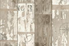 437300 cikkszámú tapéta.Fa hatású-fa mintás,feliratos-számos,bézs-drapp,vajszínű,  tapéta
