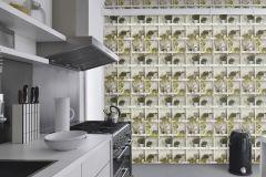 440133 cikkszámú tapéta.3d hatású,természeti mintás,fehér,zöld,lemosható,vlies tapéta