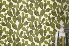 441000 cikkszámú tapéta.3d hatású,természeti mintás,fehér,zöld,lemosható,vlies tapéta