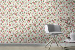 442229 cikkszámú tapéta.Természeti mintás,virágmintás,kék,narancs-terrakotta,pink-rózsaszín,zöld,lemosható,vlies tapéta