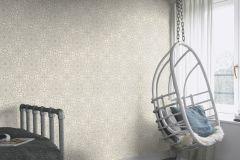 442915 cikkszámú tapéta.Különleges motívumos,rajzolt,ezüst,fehér,lemosható,vlies tapéta