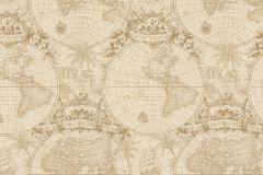 938906 cikkszámú tapéta.Geometriai mintás,különleges felületű,különleges motívumos,retro,barna,bézs-drapp,lemosható,vlies tapéta