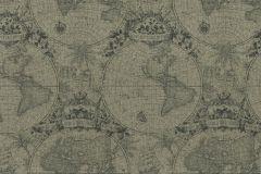 938920 cikkszámú tapéta.Geometriai mintás,különleges felületű,különleges motívumos,rajzolt,retro,szürke,zöld,lemosható,vlies tapéta
