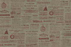 939026 cikkszámú tapéta.Feliratos-számos,különleges felületű,különleges motívumos,rajzolt,retro,piros-bordó,szürke,zöld,lemosható,vlies tapéta