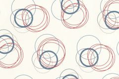 941128 cikkszámú tapéta.Absztrakt,geometriai mintás,különleges felületű,különleges motívumos,pöttyös,fehér,kék,piros-bordó,szürke,lemosható,vlies tapéta