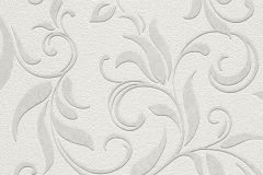 732511 cikkszámú tapéta.Barokk-klasszikus,fehér,szürke,lemosható,vlies tapéta