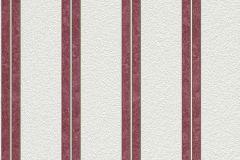 732573 cikkszámú tapéta.Csíkos,fehér,piros-bordó,lemosható,illesztés mentes,vlies tapéta