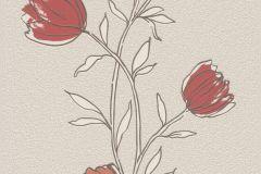 733044 cikkszámú tapéta.Természeti mintás,virágmintás,barna,bézs-drapp,piros-bordó,lemosható,illesztés mentes,vlies tapéta