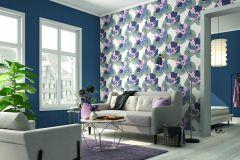 431964 cikkszámú tapéta.Egyszínű,különleges felületű,kék,lemosható,illesztés mentes,vlies tapéta