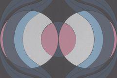 804737 cikkszámú tapéta.Absztrakt,különleges felületű,különleges motívumos,retro,kék,lila,pink-rózsaszín,szürke,lemosható,vlies tapéta