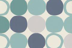 805130 cikkszámú tapéta.Geometriai mintás,különleges felületű,különleges motívumos,retro,fehér,kék,szürke,türkiz,zöld,lemosható,vlies tapéta