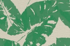 805222 cikkszámú tapéta.Különleges felületű,különleges motívumos,retro,természeti mintás,bézs-drapp,zöld,lemosható,vlies tapéta