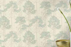 410815 cikkszámú tapéta.Különleges felületű,rajzolt,természeti mintás,bézs-drapp,fehér,zöld,lemosható,vlies tapéta