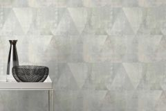 410952 cikkszámú tapéta.Geometriai mintás,különleges felületű,retro,lila,szürke,zöld,lemosható,vlies tapéta