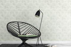 412024 cikkszámú tapéta.Absztrakt,különleges felületű,fehér,zöld,lemosható,vlies tapéta