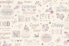 216707 cikkszámú tapéta.állatok,feliratos-számos,gyerek,rajzolt,bézs-drapp,pink-rózsaszín,szürke,vajszín,gyengén mosható,papír tapéta