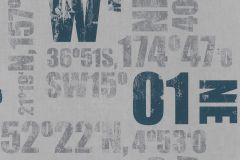 248012 cikkszámú tapéta.Feliratos-számos,gyerek,kék,szürke,gyengén mosható,papír tapéta