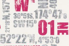 248029 cikkszámú tapéta.Feliratos-számos,gyerek,fehér,pink-rózsaszín,szürke,gyengén mosható,papír tapéta