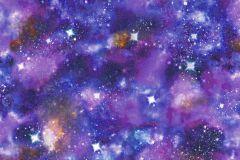 273205 cikkszámú tapéta.Gyerek,különleges motívumos,természeti mintás,fehér,kék,lila,pink-rózsaszín,sárga,gyengén mosható,papír tapéta