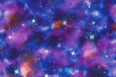 292312 cikkszámú tapéta.Gyerek,különleges motívumos,tájkép,fehér,kék,lila,pink-rózsaszín,gyengén mosható,papír tapéta