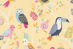 293029 cikkszámú tapéta.állatok,gyerek,rajzolt,bézs-drapp,kék,lila,narancs-terrakotta,pink-rózsaszín,piros-bordó,sárga,türkiz,zöld,gyengén mosható,papír tapéta