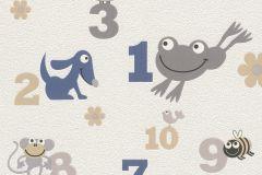 503043 cikkszámú tapéta.állatok,gyerek,rajzolt,bézs-drapp,fehér,fekete,szürke,lemosható,vlies tapéta