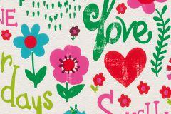 503159 cikkszámú tapéta.Feliratos-számos,gyerek,rajzolt,fehér,kék,pink-rózsaszín,piros-bordó,zöld,lemosható,vlies tapéta