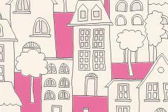 503463 cikkszámú tapéta.Gyerek,fehér,fekete,pink-rózsaszín,lemosható,vlies tapéta