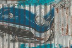 212402 cikkszámú tapéta.Különleges motívumos,rajzolt,kék,szürke,gyengén mosható,papír tapéta