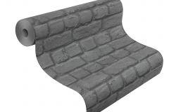 226744 cikkszámú tapéta.Kőhatású-kőmintás,különleges felületű,szürke,gyengén mosható,papír tapéta
