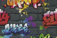 237801 cikkszámú tapéta.Kőhatású-kőmintás,különleges felületű,rajzolt,narancs-terrakotta,piros-bordó,sárga,szürke,  tapéta