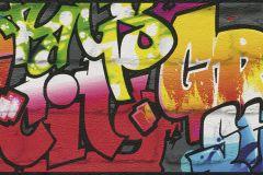 237900 cikkszámú tapéta.Kőhatású-kőmintás,különleges felületű,rajzolt,piros-bordó,sárga,szürke,zöld,papír bordűr