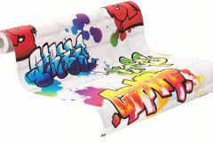 272901 cikkszámú tapéta.Kőhatású-kőmintás,különleges felületű,rajzolt,fehér,pink-rózsaszín,piros-bordó,zöld,gyengén mosható,papír tapéta