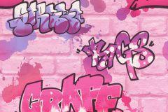 272918 cikkszámú tapéta.Kőhatású-kőmintás,különleges felületű,rajzolt,lila,pink-rózsaszín,gyengén mosható,papír tapéta