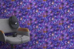 273205 cikkszámú tapéta.Gyerek,különleges felületű,különleges motívumos,barna,kék,lila,gyengén mosható,papír tapéta