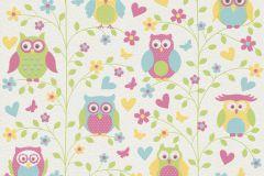 459104 cikkszámú tapéta.állatok,gyerek,rajzolt,fehér,pink-rózsaszín,sárga,zöld,lemosható,illesztés mentes,vlies tapéta