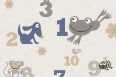 503043 cikkszámú tapéta.állatok,feliratos-számos,rajzolt,fehér,kék,szürke,lemosható,vlies tapéta