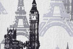 734805 cikkszámú tapéta.Rajzolt,fehér,fekete,szürke,lemosható,vlies tapéta