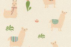813227 cikkszámú tapéta.állatok,gyerek,különleges motívumos,bézs-drapp,narancs-terrakotta,zöld,lemosható,illesztés mentes,vlies tapéta
