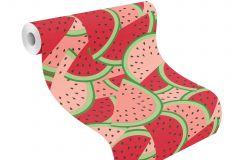 813814 cikkszámú tapéta.Különleges motívumos,pink-rózsaszín,piros-bordó,zöld,lemosható,vlies tapéta