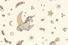 815009 cikkszámú tapéta.állatok,gyerek,különleges motívumos,bézs-drapp,pink-rózsaszín,szürke,lemosható,vlies tapéta