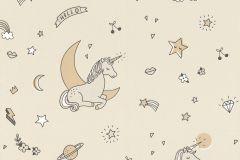 815016 cikkszámú tapéta.állatok,gyerek,különleges motívumos,bézs-drapp,szürke,lemosható,vlies tapéta