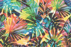 815344 cikkszámú tapéta.Különleges motívumos,természeti mintás,kék,narancs-terrakotta,sárga,zöld,lemosható,vlies tapéta