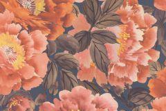 408348 cikkszámú tapéta.Virágmintás,narancs-terrakotta,pink-rózsaszín,lemosható,vlies tapéta