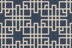 409253 cikkszámú tapéta.Geometriai mintás,kék,lemosható,vlies tapéta
